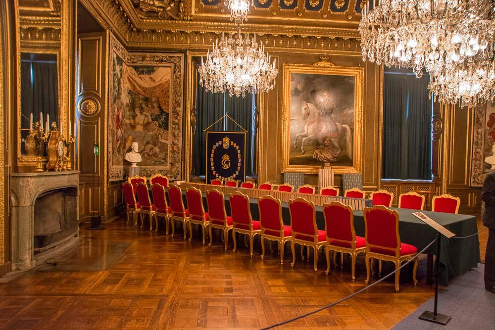 Im Ratssaal findet die alljährliche Ehrung der Nobelpreisträger statt