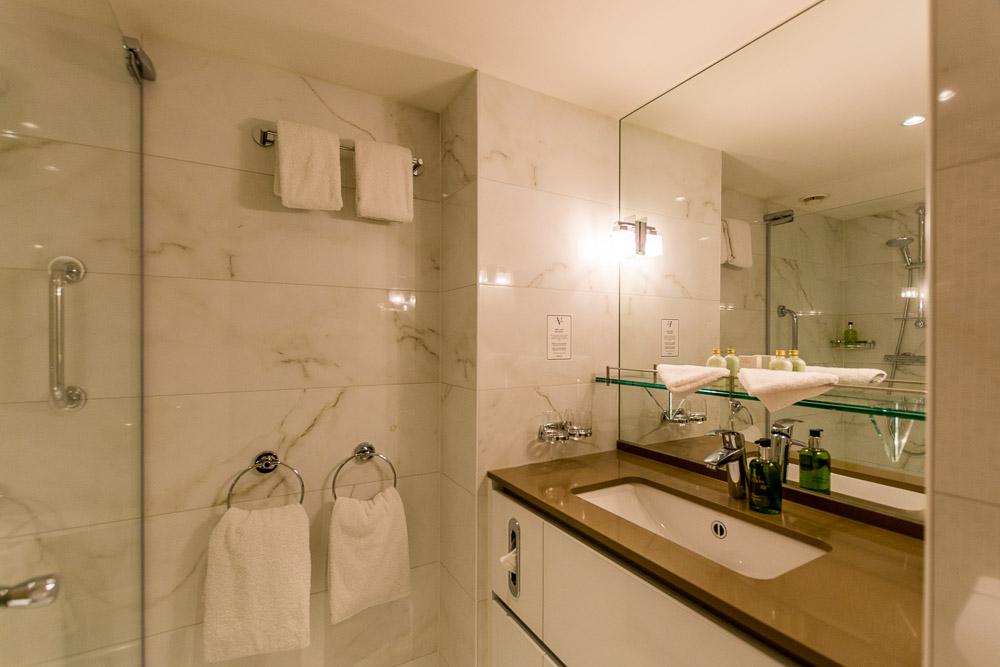 Das Badezimmer unserer Kabine