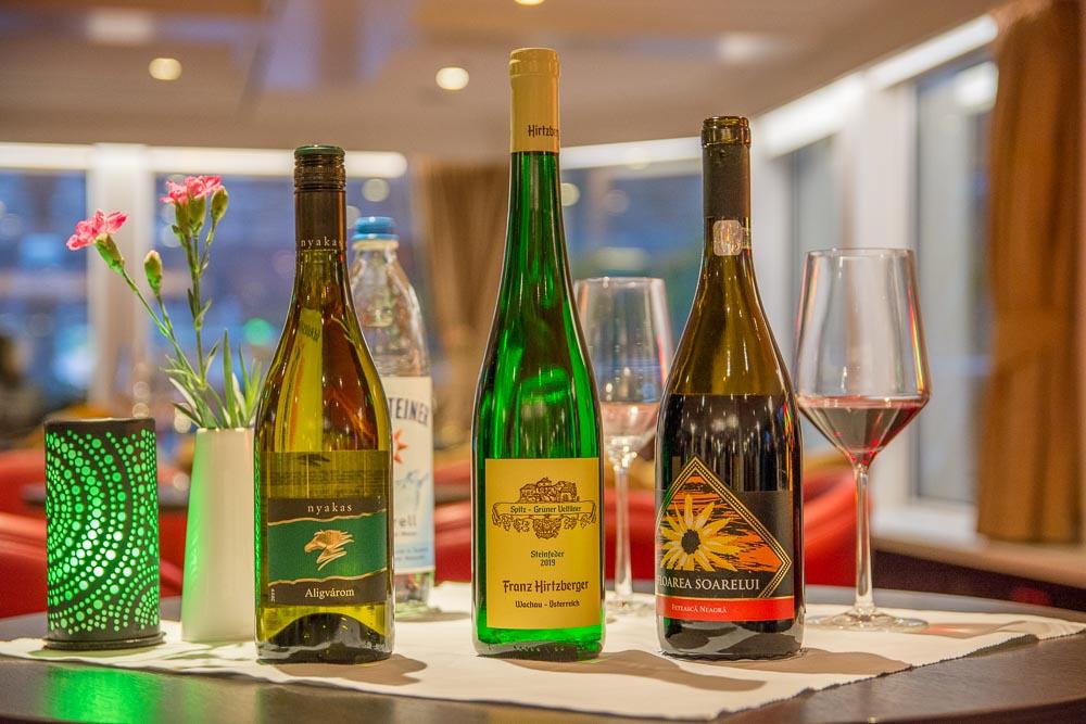 Die drei Weine der ersten Weinprobe