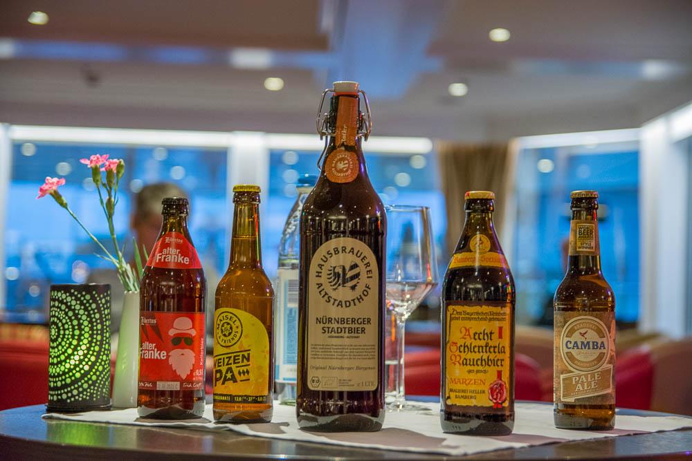 Die verschiedenen Biere unserer Bierverkostung