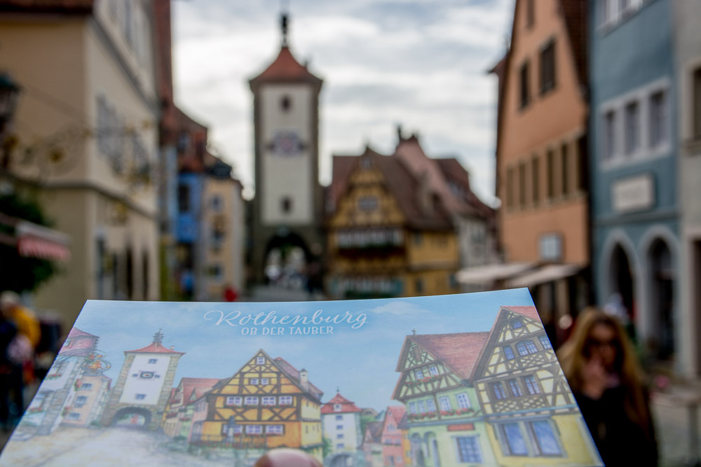 Das Plönlein ist das Wahrzeichen von Rothenburg ob der Tauber