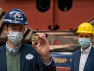 Die Kiellegung der Disney Wish auf der Meyer Werft. Foto: Disney